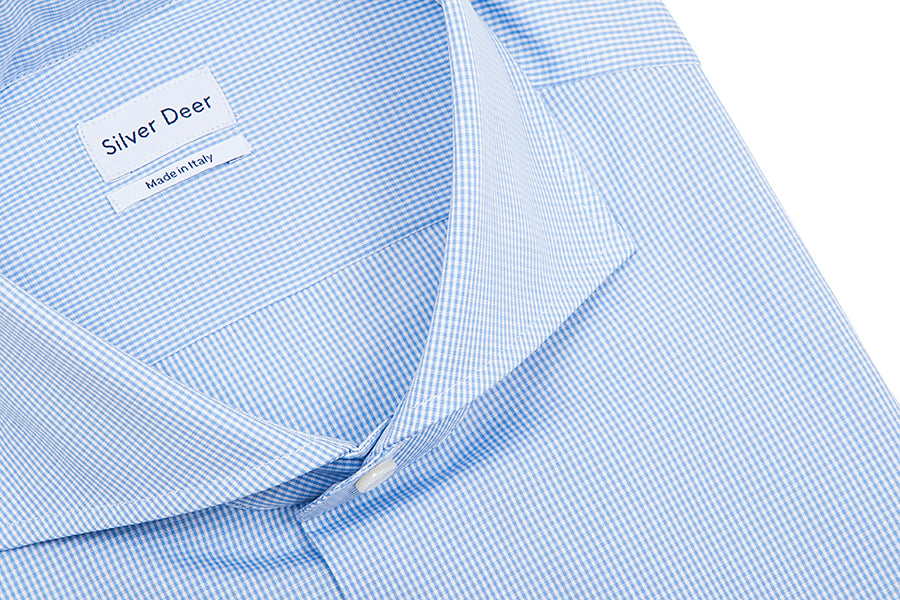 Small Check Slim Blue Shirt
