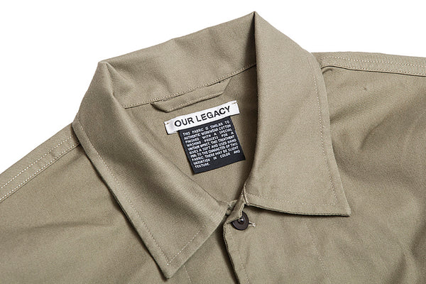 Our Legacy Chamois Short Sleeve-Olive 1183CSSSOTT