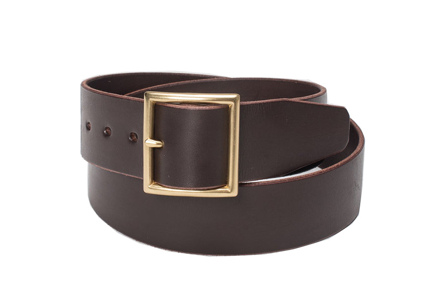 OGL Black Vintage Buckle Leather Belt
