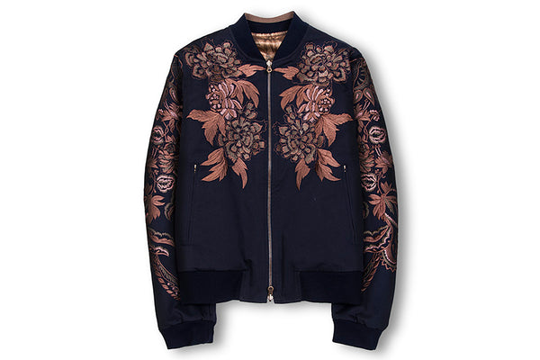 Dries Van Noten Vinny Cotton Reversible Bomber Jacket