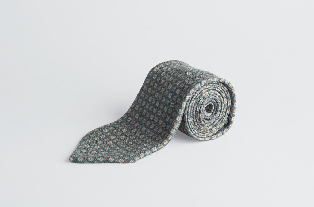 Petronius Knitted Print Tie