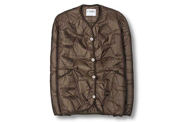 CAMO War Admiral Quilted Jacket Army