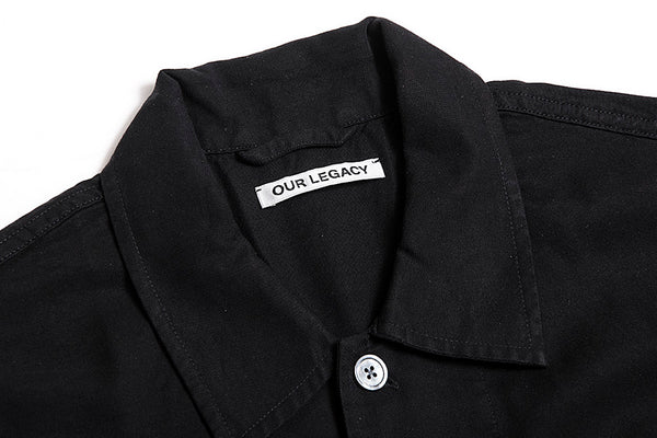 Our Legacy Chamois Shirt-Black Silky Wash 1183CSBSW