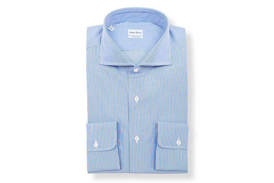 Pinstripe Slim Blue Shirt