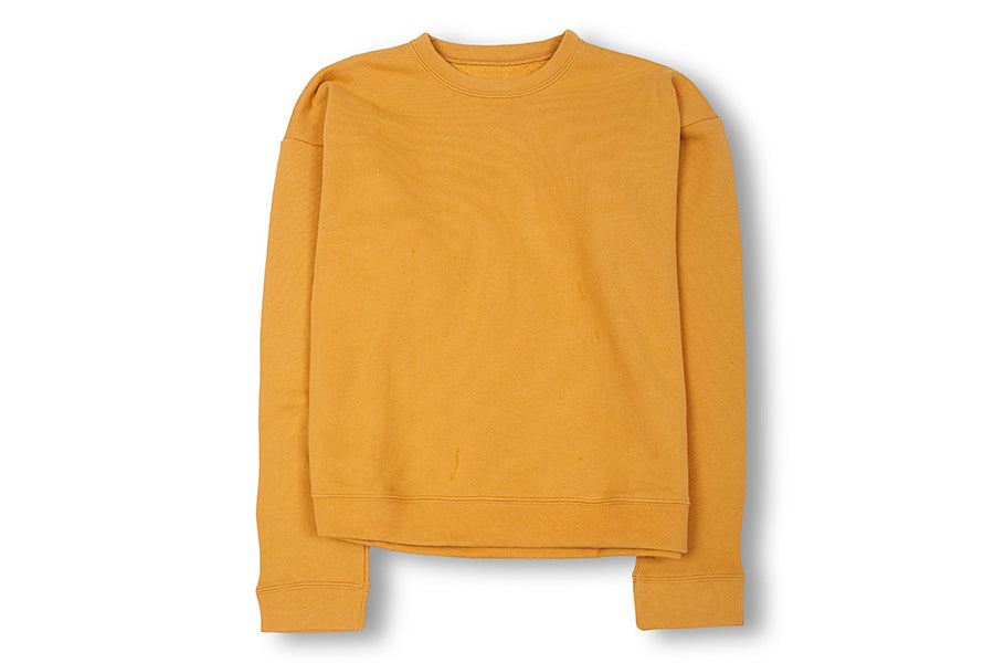 The Elder Statesman Cotton Fleece Sweatshirt Yellow