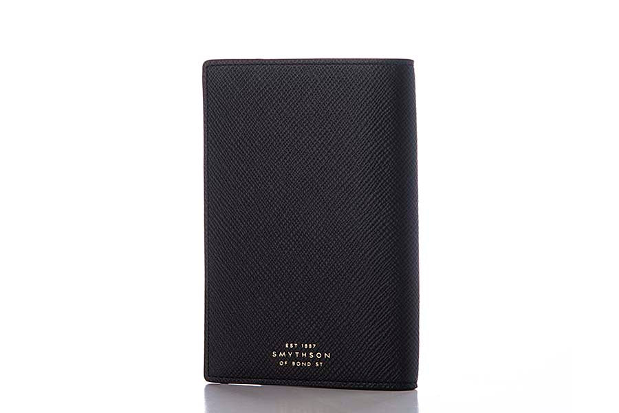 Smythson Passport Cover Black