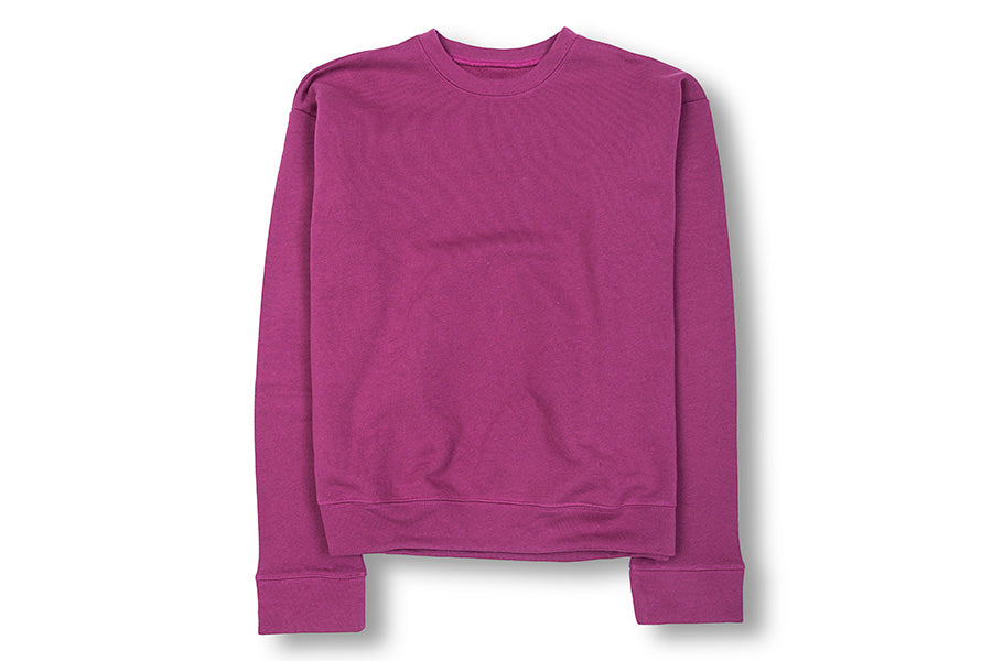 The Elder Statesman Cotton Fleece Sweatshirt Plum