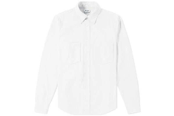 Acne Studios Lincoln Canvas Shirt White