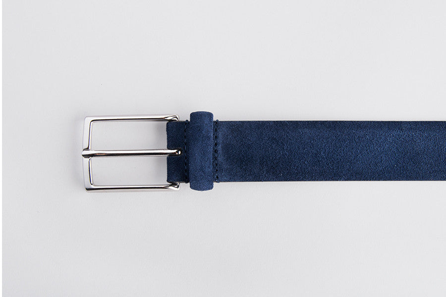 Anderson's Belt Suede Leather Navy