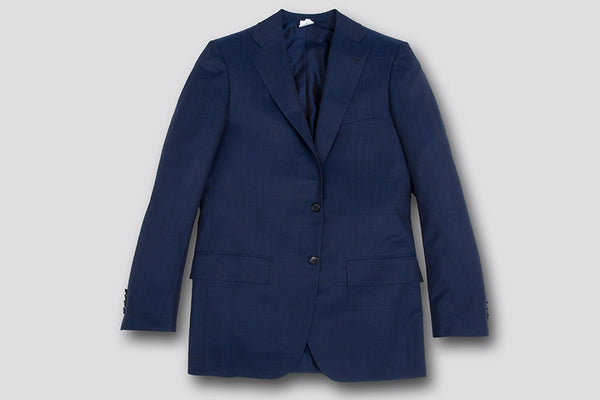 Kiton Solid Stripes Navy Suit