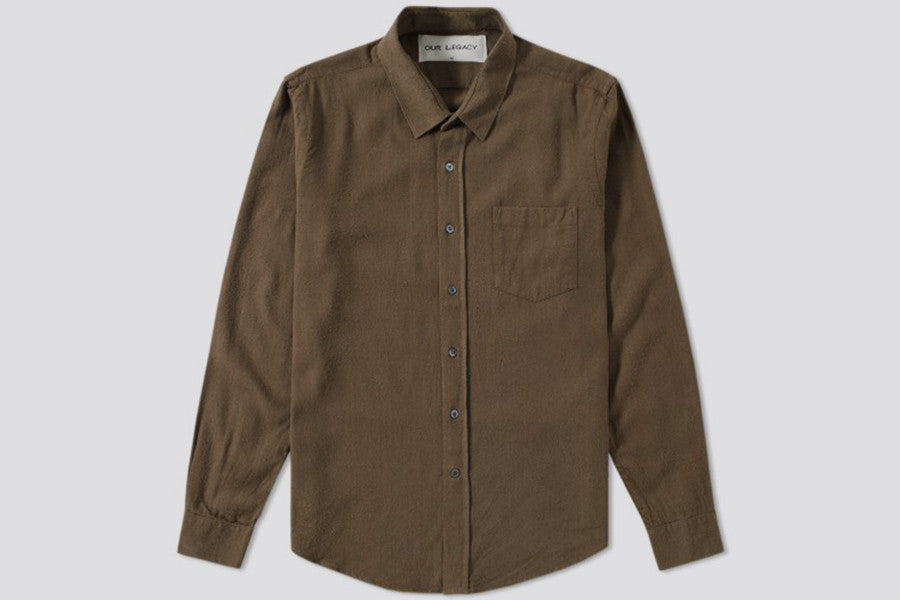 Our Legacy Classic Shirt Dk. Olive Silk