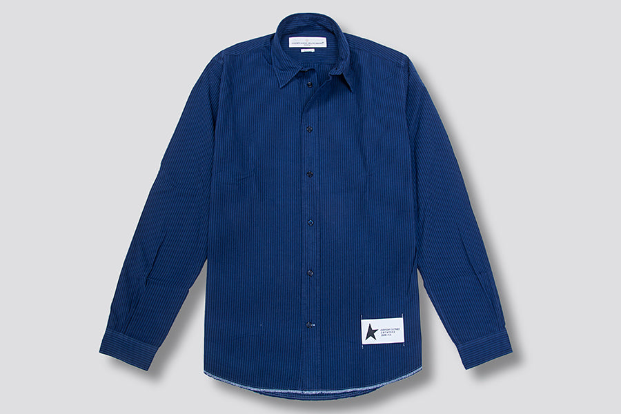 Golden Goose Stripes Shirt Navy
