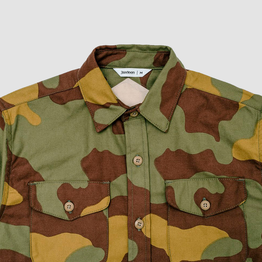 3sixteen CPO Shirt Camo Back Satin