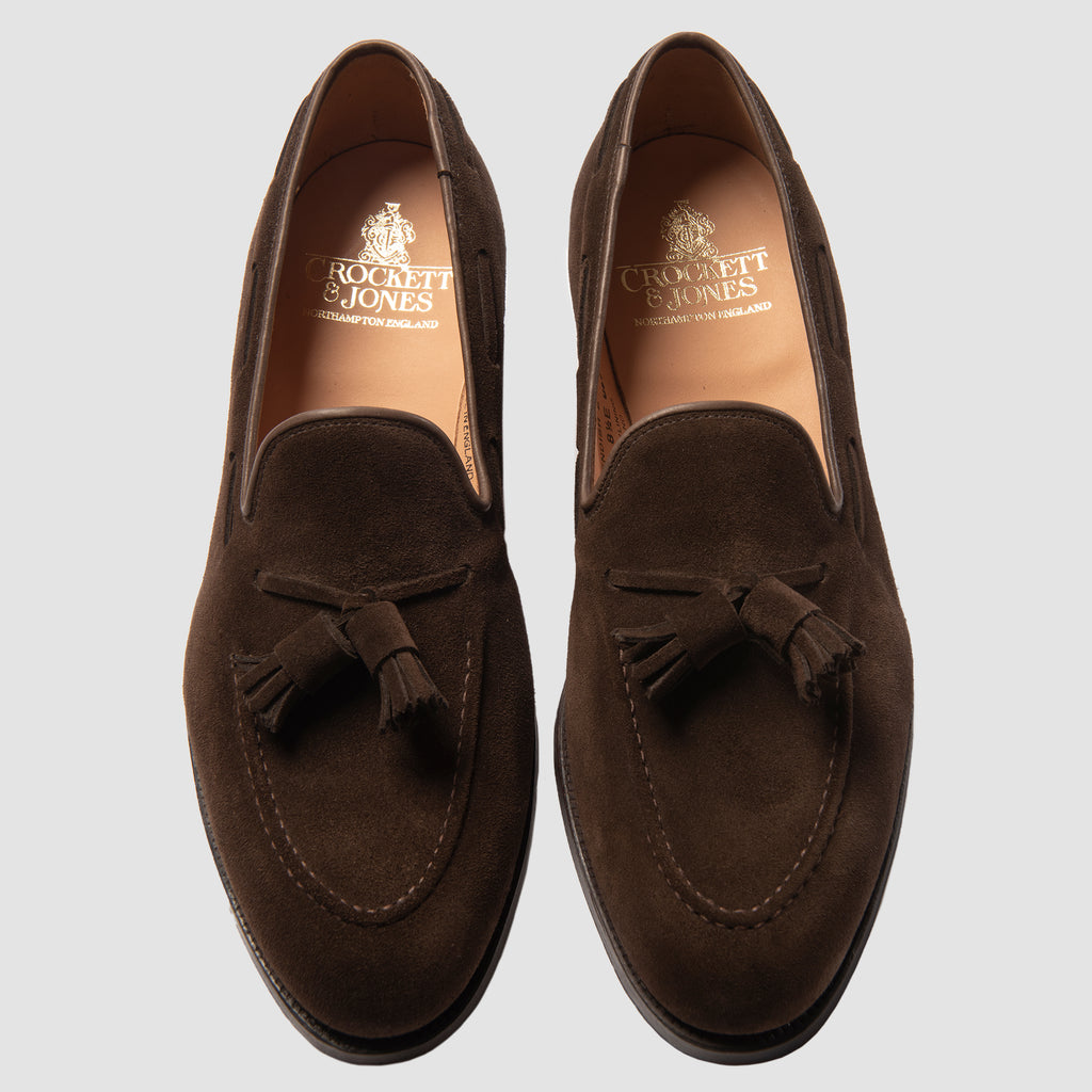 Crockett & Jones Cavendish Dark Brown Calf Suede