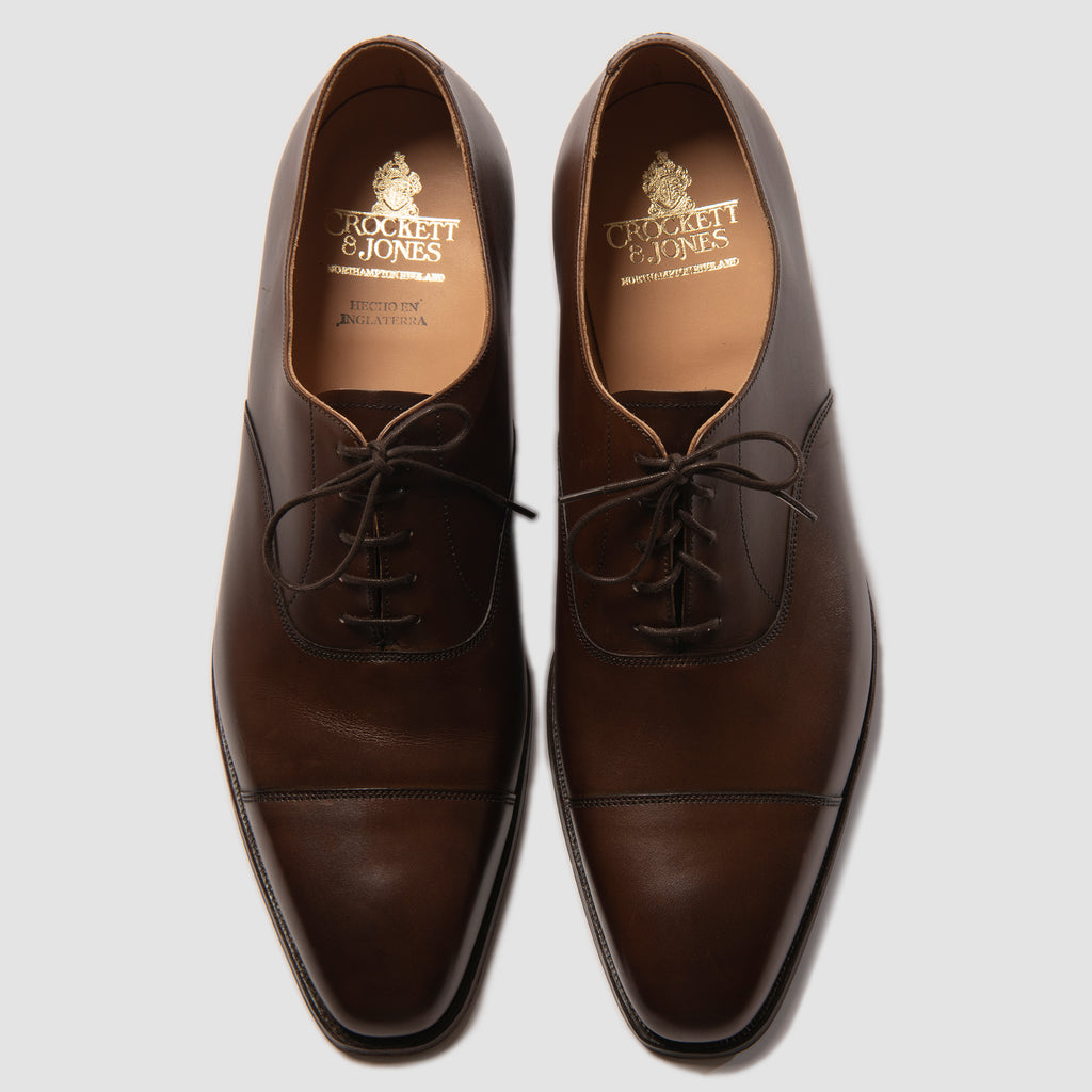 Crockett & Jones Hallam Dark Brown Burnished Calf