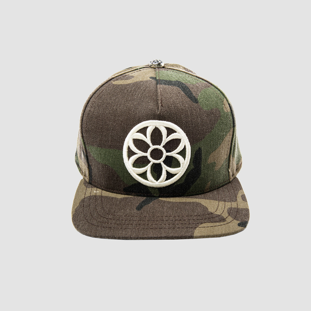 Good Art Recycle This Cap... Cream Rosette & Camo Cap