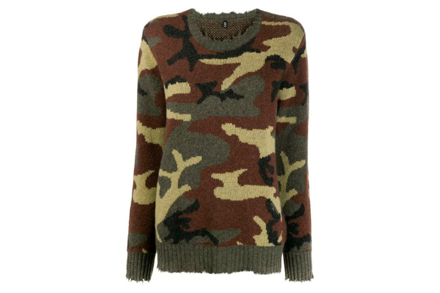 R13 Camouflage Cashmere Sweater