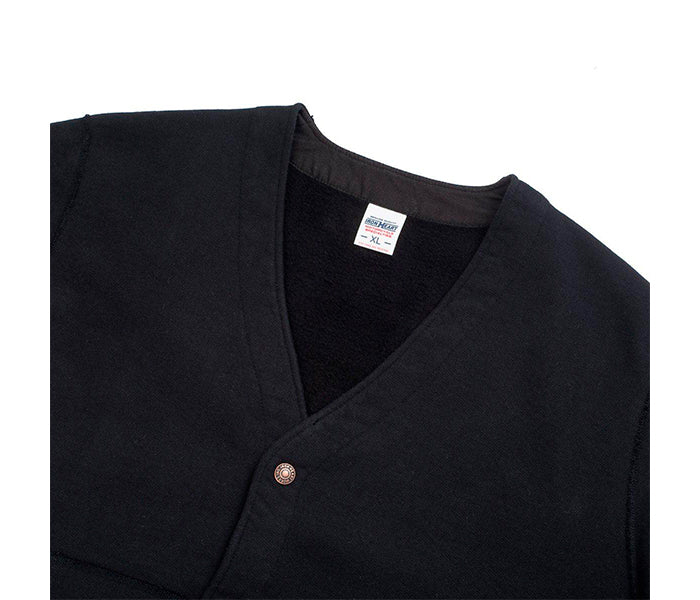 Iron Heart IHSW-48 14 oz Ultra Heavyweight Sweat Cardigan Black