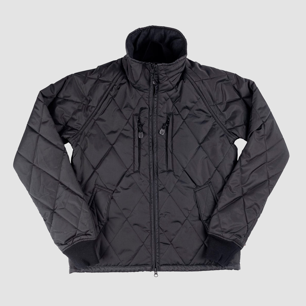 Primaloft® IHJ-79 Gold Quilted Rider's Jacket Black