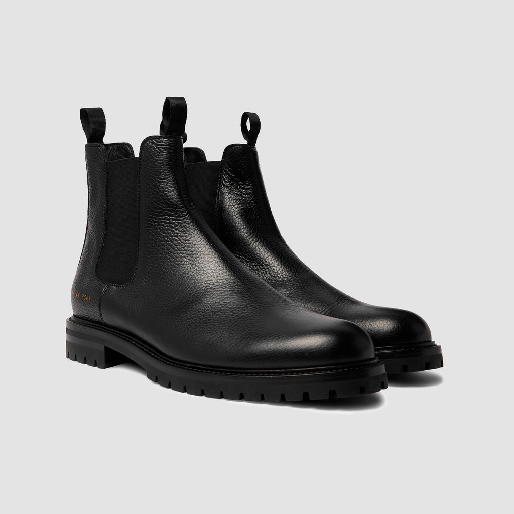 Common Projects Winter Chelsea Bumpy Black