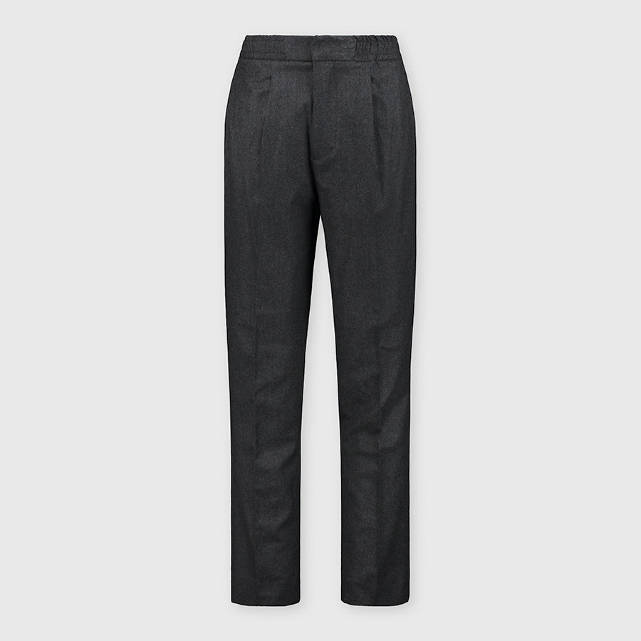 Officine Générale Drew Pants Italian Worsted Wool Flannel Grey