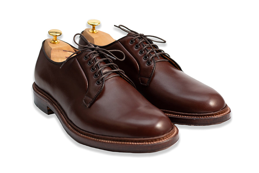 Alden Plain Toe Blucher Calfskin Walnut Brown