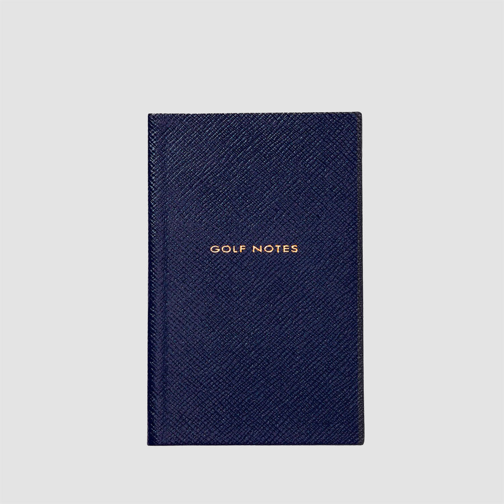 Smythson Golf Notes Panama Notebook Navy