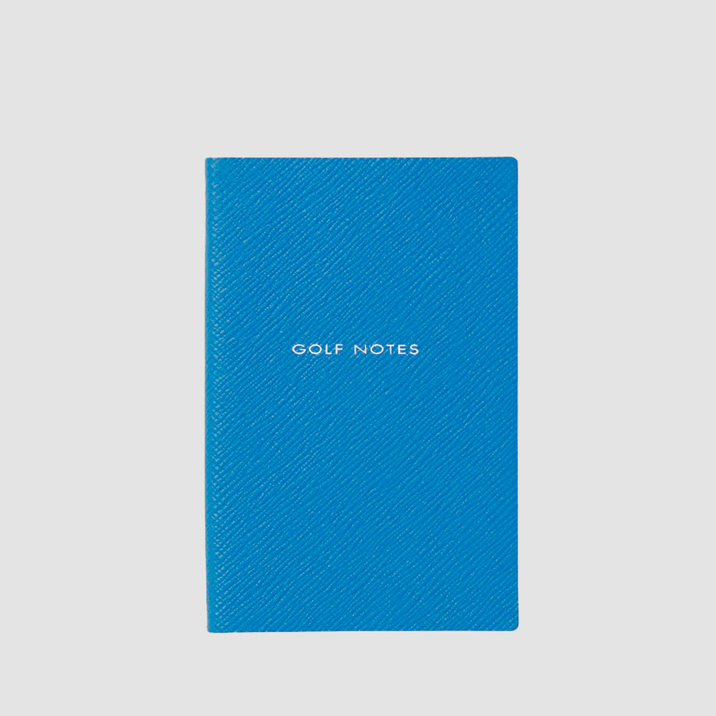 Smythson Golf Notes Panama Notebook Azure
