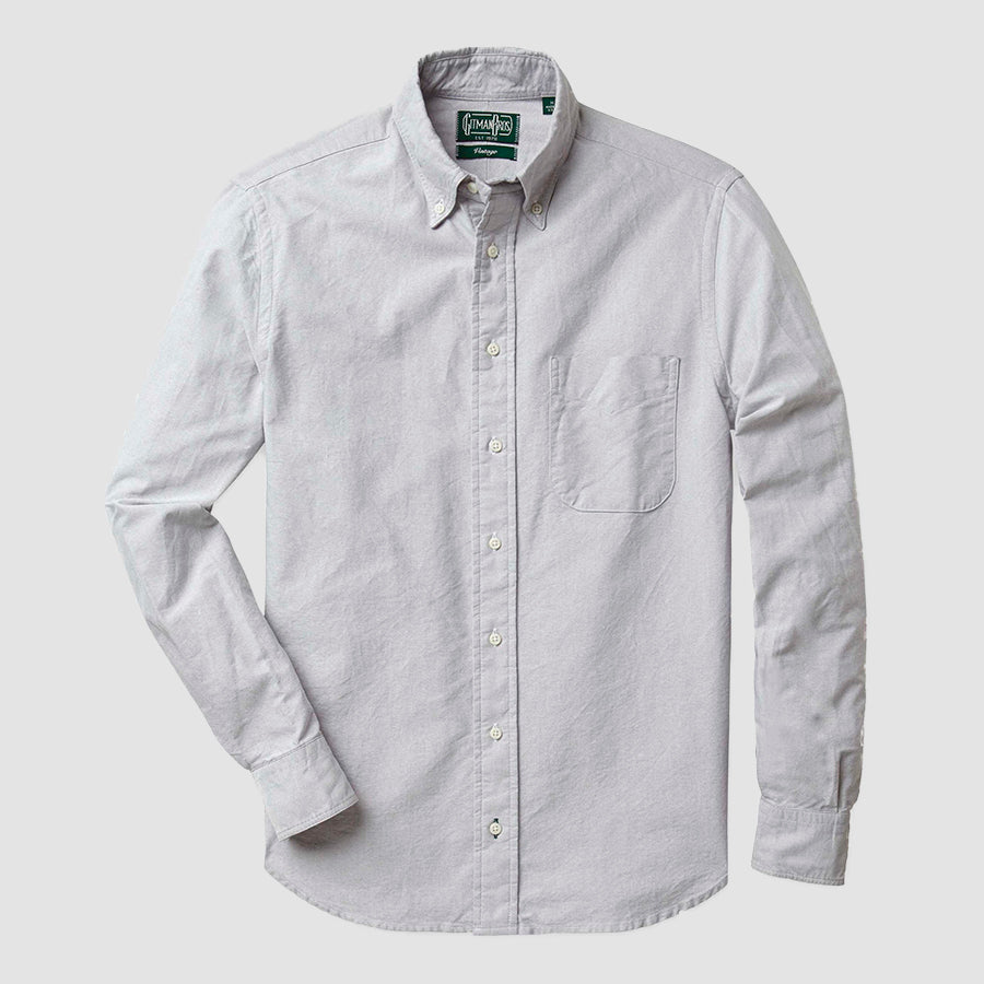 Gitman Vintage Button Down Shirt Grey Oxford
