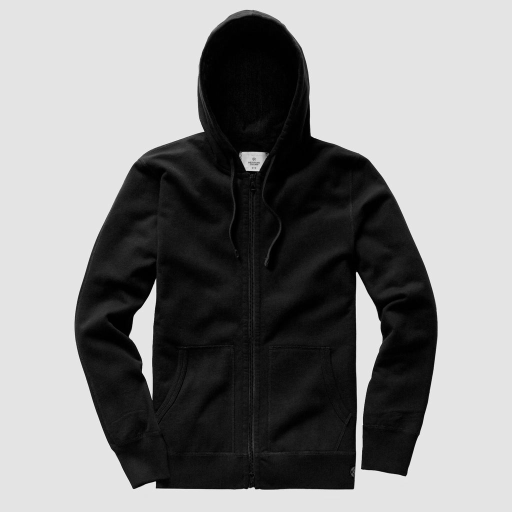 Reigning Champ Lightweight Terry Full Zip Hoodie Black
