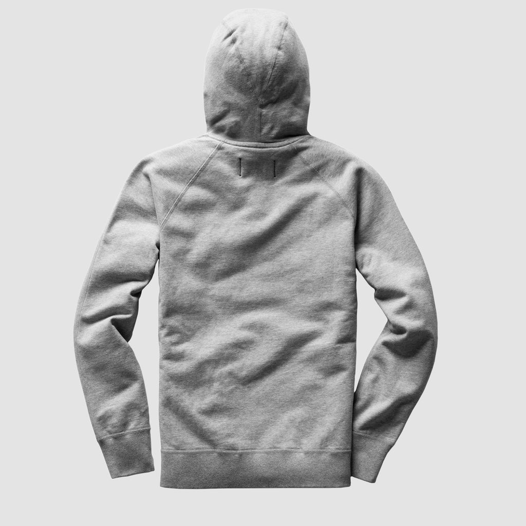 Reigning Champ Lightweight Terry Full Zip Hoodie Heather Grey