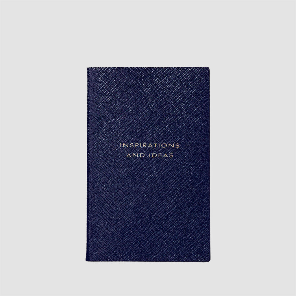 Smythson Inspirations And Ideas Panama Notebook Navy