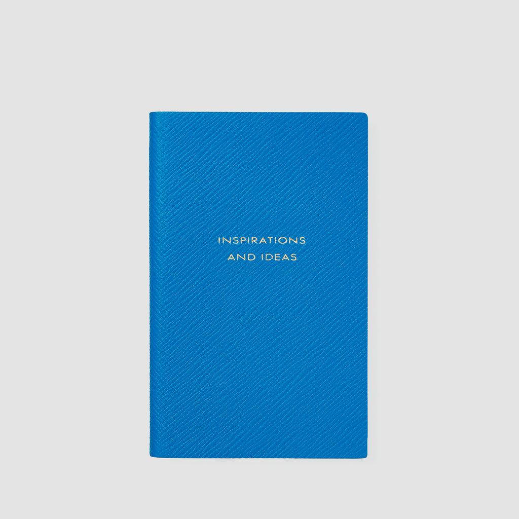 Smythson Inspirations And Ideas Panama Notebook Azure