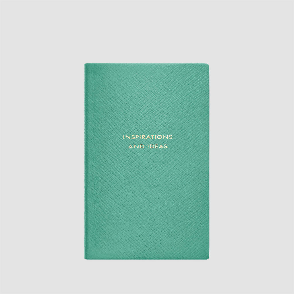 Smythson Inspirations And Ideas Panama Notebook Sea Green