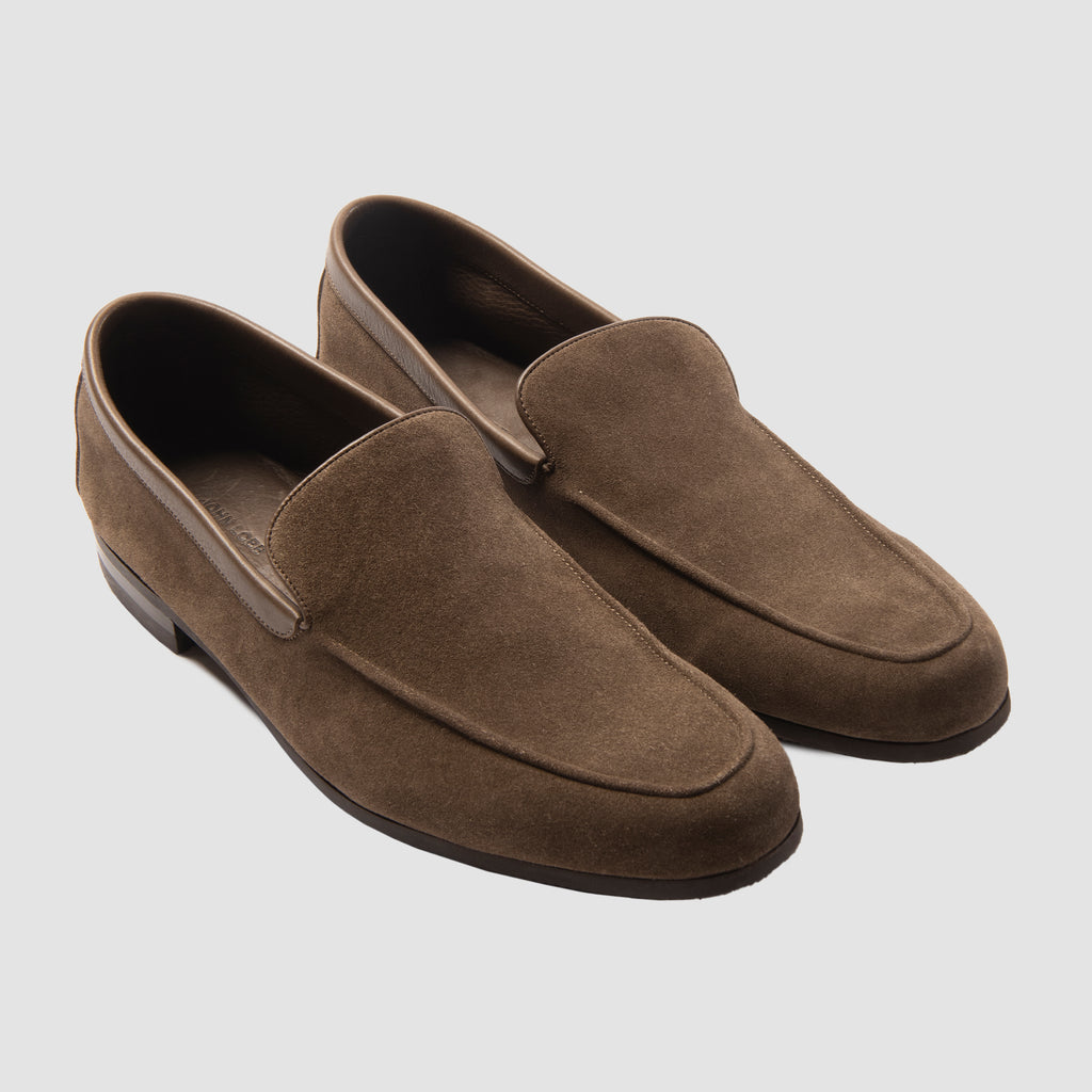 John Lobb Tyne Suede Loafers Brown