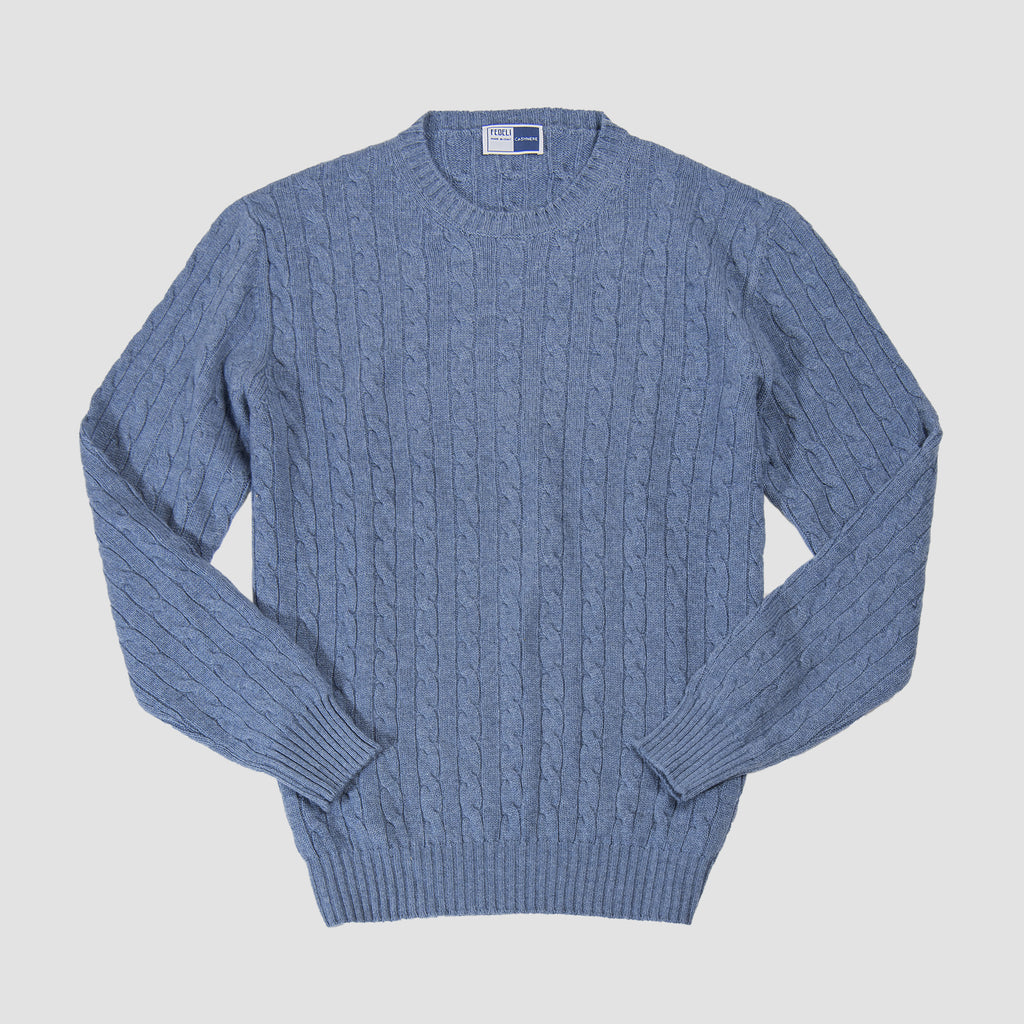 Fedeli Cashmere Argentina Cable Knit Sweater Jeans