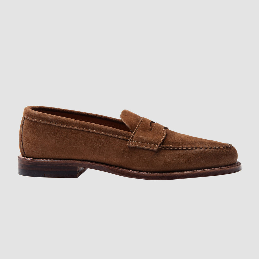 Alden Unlined Penny Loafer Snuff Suede