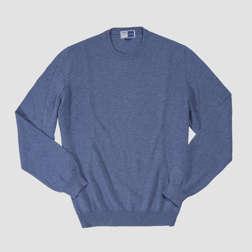 Fedeli Cashmere Sweater Blue