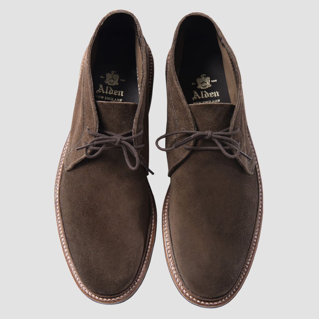 Alden Unlined Chukka Boots 1492 Dark Brown Suede