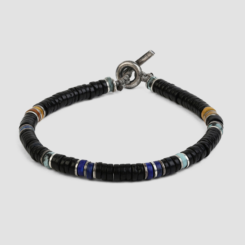 M. Cohen Frosted Onyx Mix Gemstones Bracelet