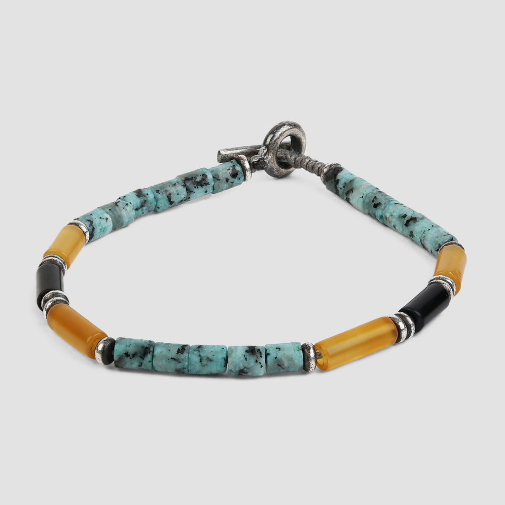 M. Cohen The Brace Bracelet Made of Mixed Gemstones Turquoise