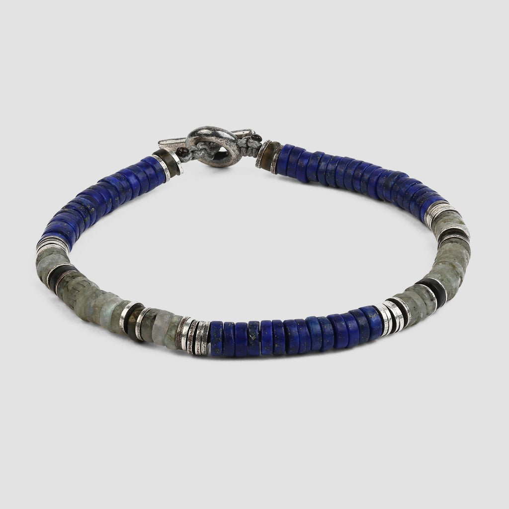 M. Cohen Lapis Gemstone Bracelet with Sterling Silver