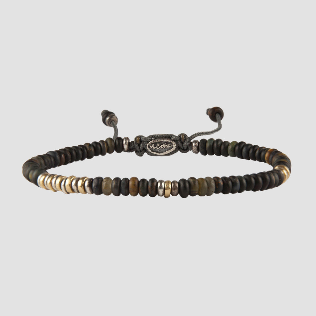 M. Cohen The Cipher Blue Tiger Eye Bracelet