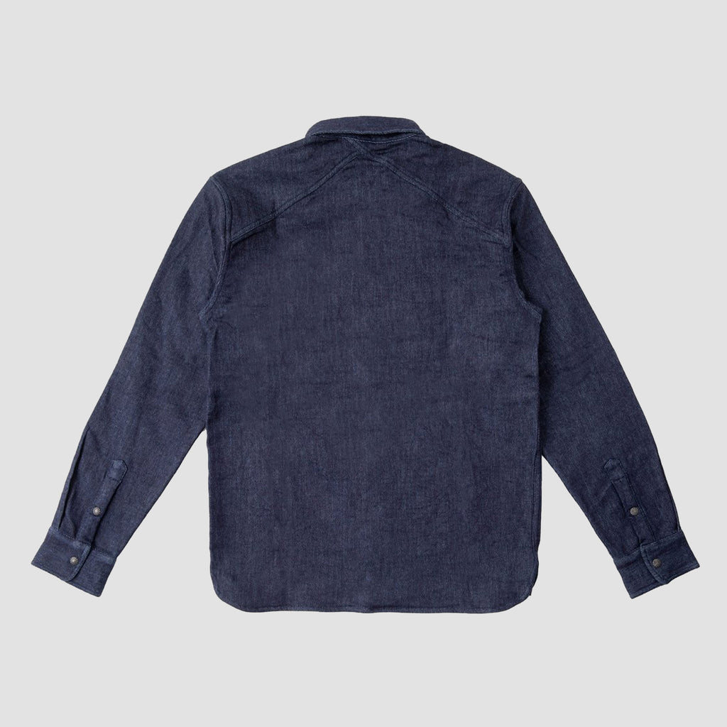3Sixteen Crosscut Western Shirt Indigo Selvedge Fleece