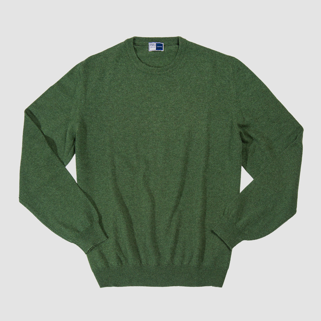 Fedeli Crew Neck Cashmere Sweater Green