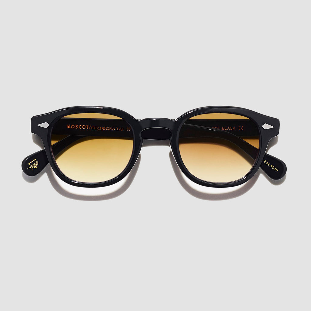 Moscot Lemtosh Black with Custom Made Tints™ Chestnut Fade