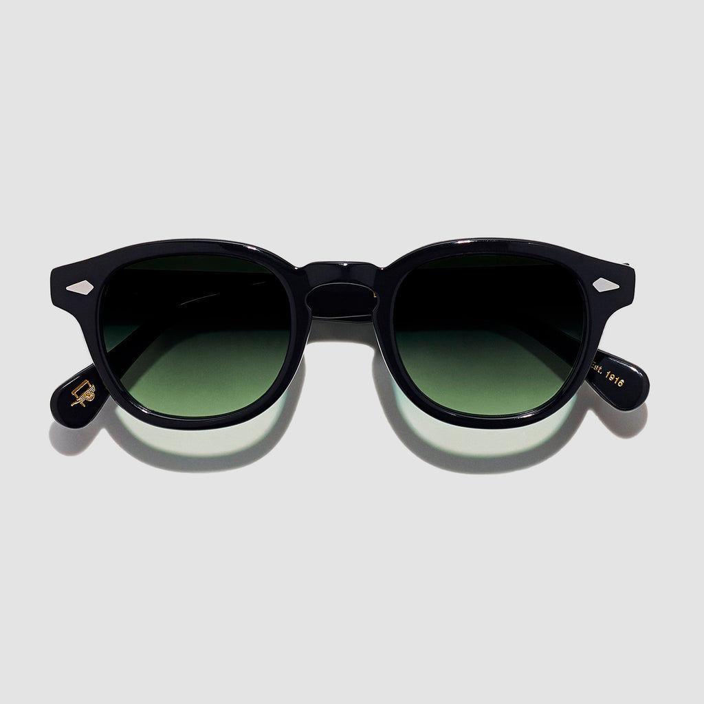 Moscot Lemtosh Black with Custom Made Tints™ Forest Wood