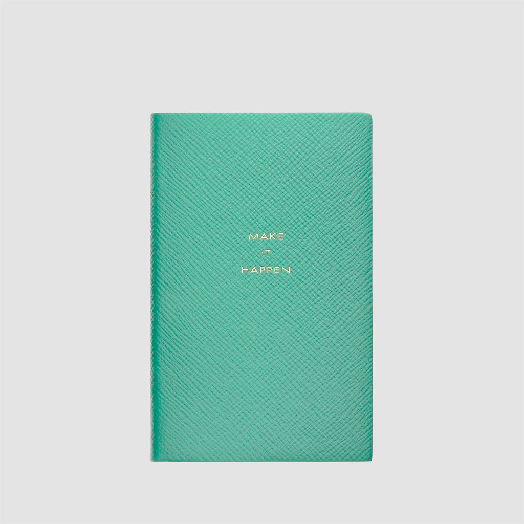 Smythson Make It Happen Panama Notebook Sea Green
