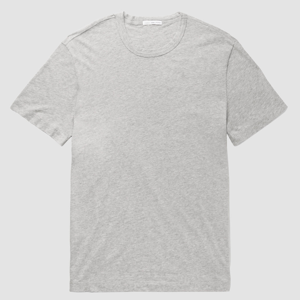 James Perse Short Sleeve Crew Neck T-Shirt Grey Melange