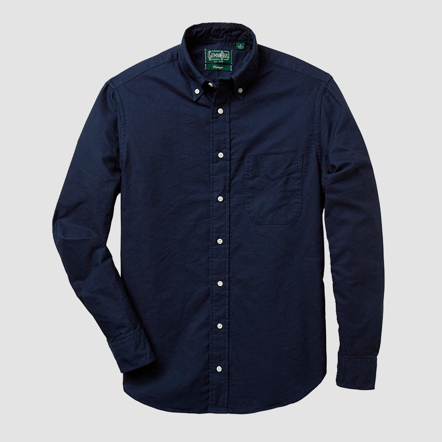 Gitman Vintage Button Down Shirt Navy Overdye Oxford